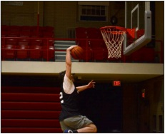 """""""What A Dunk.....?""""    Despite playing against competition with middle school level verticals, the trio of Rutger basketball players fell short in the tournament."""