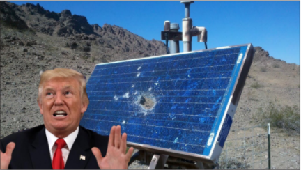 Trump Sabotages Solar Industry in Hopes for More Snow Days