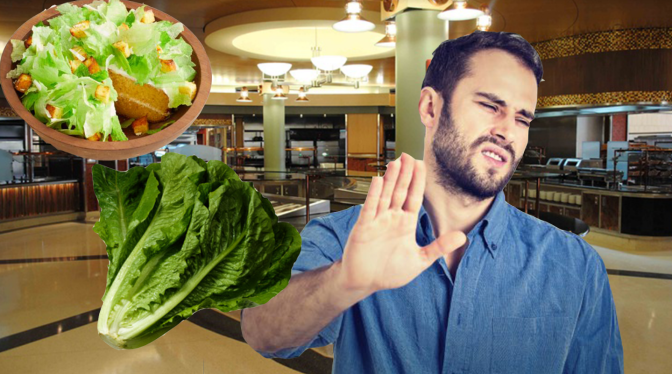 Area Man not Worried About Romaine Recall, Doesn't Even Eat Salad