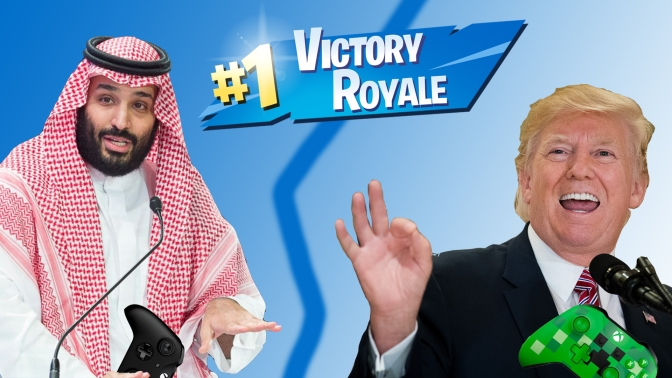 """Trump stands by Saudi crown: """"He's a great Fortnite squad member"""""""