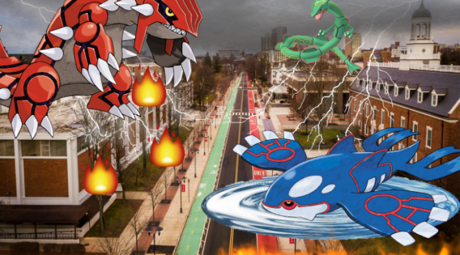 Inclement Weather Due to Legendary Pokemon Battle