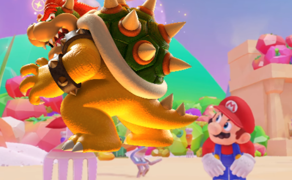 New Super Mario Minigame lets Mario eat Bowser's Ass