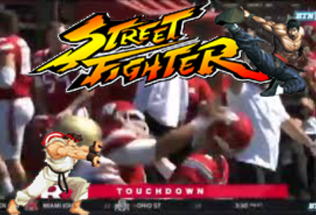 Rutgers Football Game Turns into Street Fighter 6